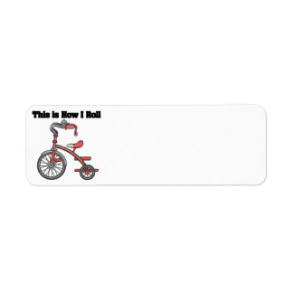 How I Roll (Tricycle) Return Address Labels