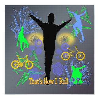 How I Roll (Tween Boys) Invitation