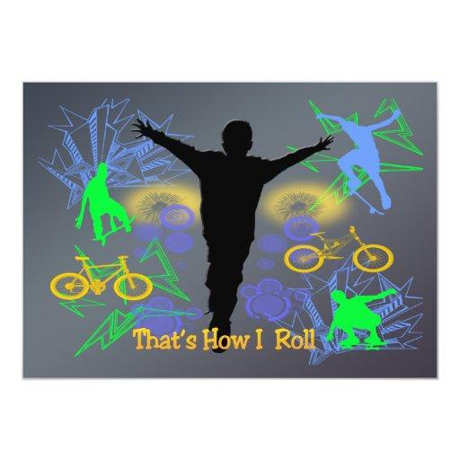 How I Roll (Tween Boys) Invitation