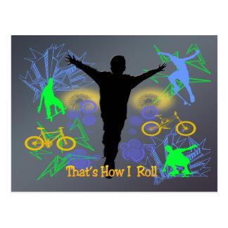 How I Roll (Tween Boys) Postcard