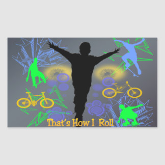 How I Roll (Tween Boys) Sticker