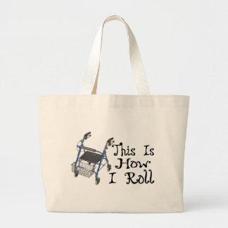 How I Roll Walker Jumbo Tote Bag