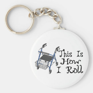 How I Roll Walker Keychain