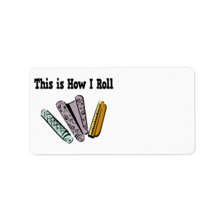 How I Roll Wallpaper Personalized Address Label