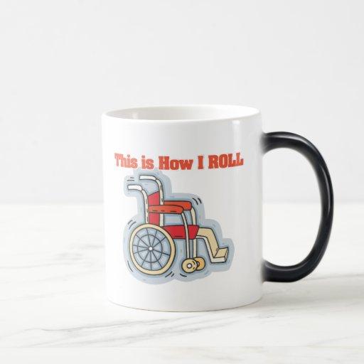 How I Roll (Wheelchair) Coffee Mugs
