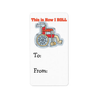How I Roll (Wheelchair) Address Label