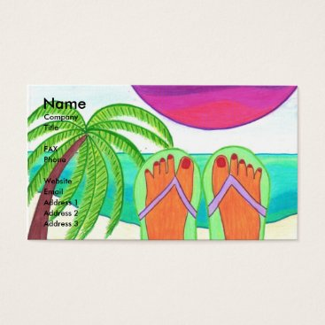 Professional Business How I Spent My Summer Vacation Business Card Templ