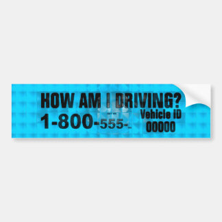 HOW IS MY DRIVING BUMPER STICKER