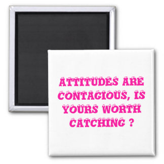 HOW IS YOUR ATTITUDE? 2 INCH SQUARE MAGNET