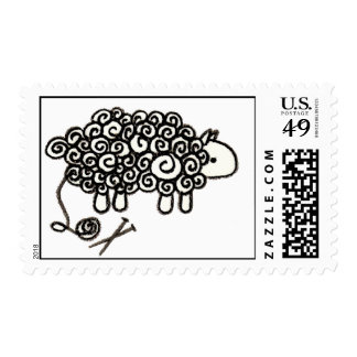 How Knitters See Sheep Stamps