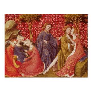 How Lancelot kissed Guinevere Postcard