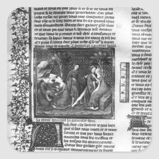 How Lancelot Kissed Guinevere Square Sticker
