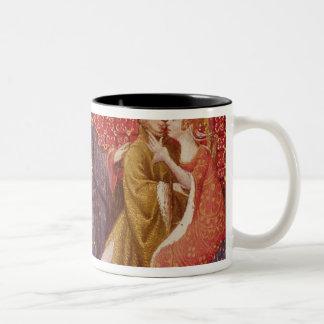How Lancelot kissed Guinevere Two-Tone Coffee Mug