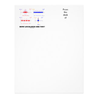 How Localized Are You? (Wave Packet Localization) Letterhead Template