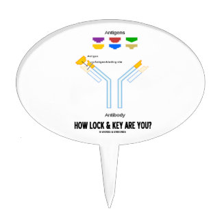 How Lock And Key Are You? (Antigen Antibody) Cake Topper