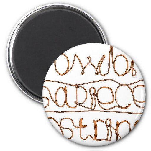 How long is a piece of string ? 2 inch round magnet