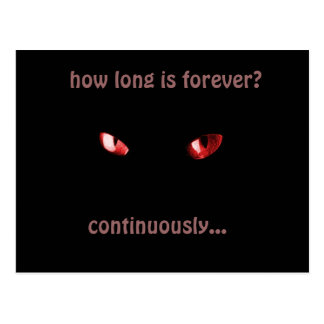 how long is forever? postcard