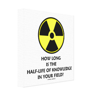 How Long Is The Half-Life Knowledge In Your Field? Canvas Print