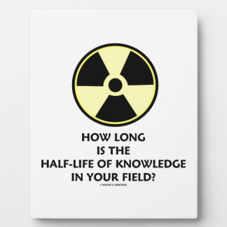 How Long Is The Half-Life Knowledge In Your Field? Plaque