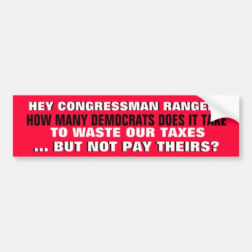HOW MANY DEMOCRATS DOES IT TAKE? CAR BUMPER STICKER