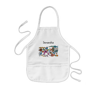 How Many Different Fish Can You See? Kids' Apron