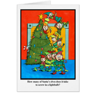 How Many Elves Does it Take? Card