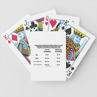 How Many Miles Per Week Should I Run? Chart Bicycle Playing Cards