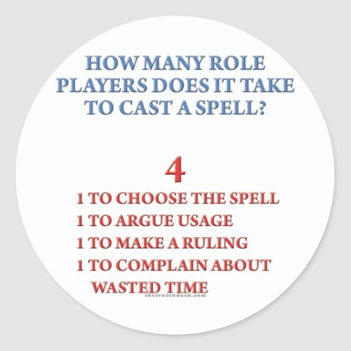 How Many Players to Cast a Spell Classic Round Sticker