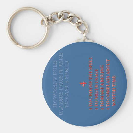 How Many Players to Cast a Spell Keychain