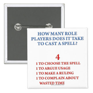 How Many Players to Cast a Spell Pinback Button