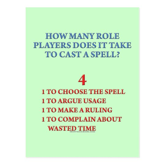 How Many Players to Cast a Spell Postcard