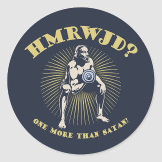 How Many Reps? Classic Round Sticker