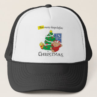 How Many Sleeps Before Christmas Trucker Hat