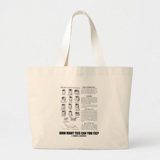 How Many Ties Can You Tie? (Tie Attitude) Jumbo Tote Bag