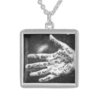 How Many Ways Do I Love Thee Square Pendant Necklace