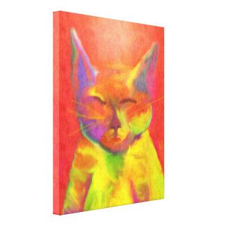 """How May You Serve Me?"" Cat Art Canvas Print"