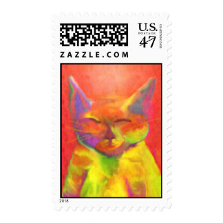 """How May Your Serve Me"" Cat Postage"
