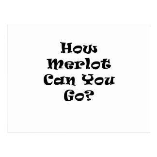 How Merlot Can You Go Postcard