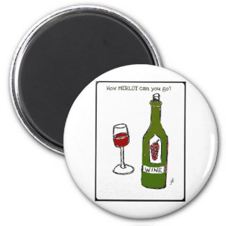 How MERLOT can you go wine print by jill Magnet