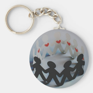 How much do I love thee? Basic Round Button Keychain