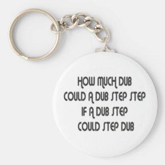 How Much Dub Step Basic Round Button Keychain