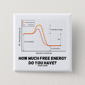 How Much Free Energy Do You Have? (Chemistry) Pinback Button