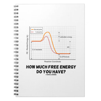 How Much Free Energy Do You Have? (Graph) Spiral Notebook