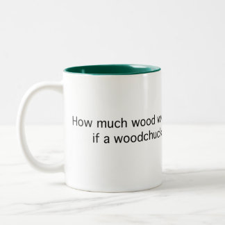How Much Would a Woodchuck Two-Tone Coffee Mug
