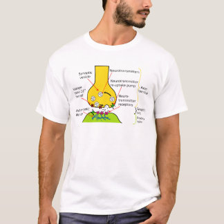 How Nerve Signals Are Sent With Synapses Diagram T-Shirt