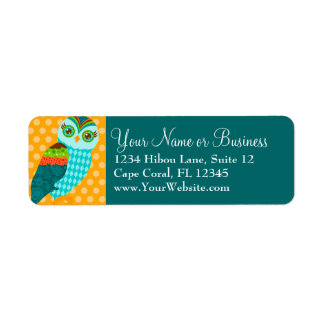 How Now Blue Owl? Custom Return Address Label