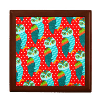How Now Blue Owl - Polka Dots Keepsake Box