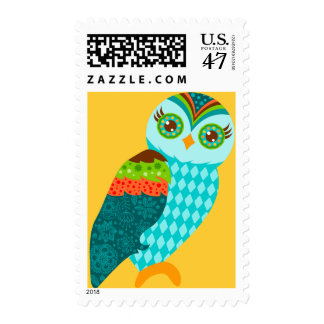How Now Blue Owl? Postage Stamp