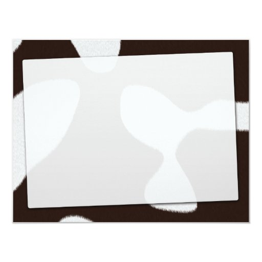 How Now Brown cow 4.25x5.5 Paper Invitation Card