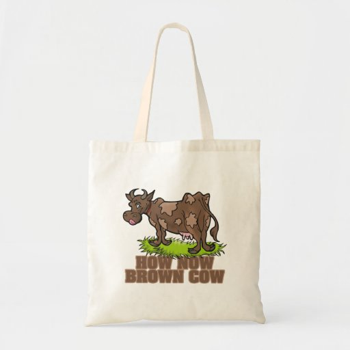 how now brown cow canvas bag